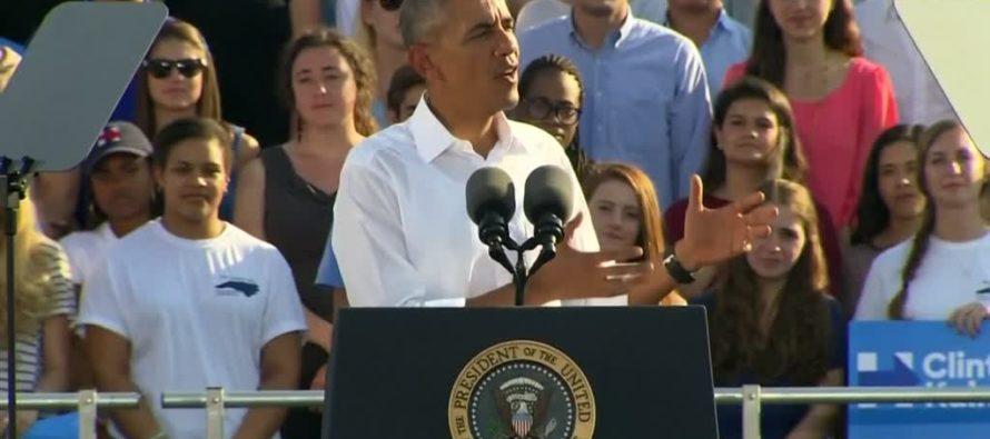 Obama REEKS Of Desperation – Tells Americans Trump Would Tolerate KKK If President