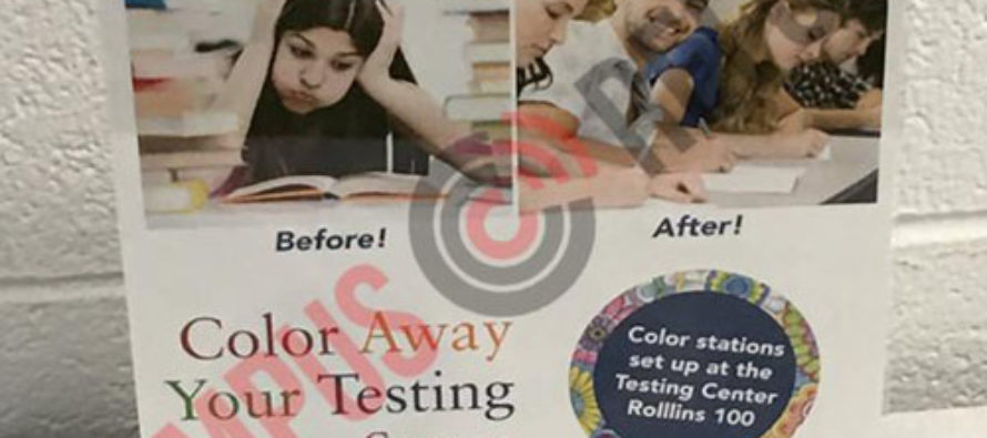 College Encourages Students to Color