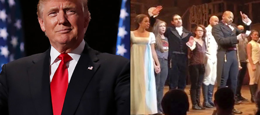 Trump Has SCATHING Message For Cast Of 'Hamilton' After Their Treatment Of VP-Elect Pence! [VIDEO]
