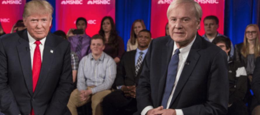 MSNBC's Chris Matthews Stuns Liberals With HUGE Announcement About Trump [VIDEO]