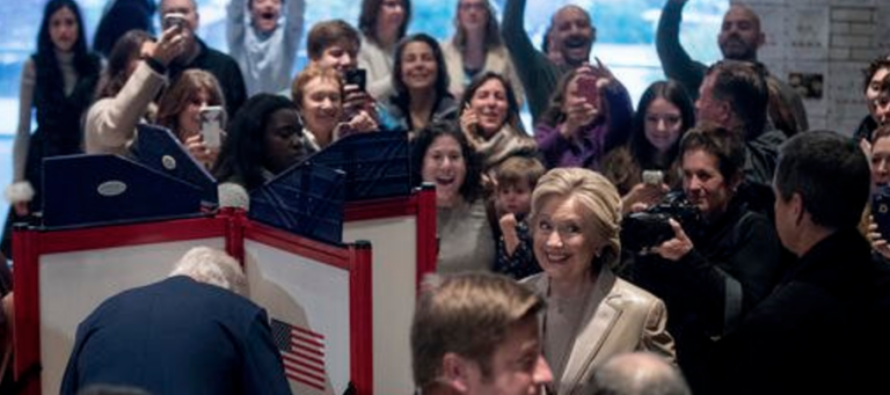 Hillary votes in New York, screws voters on way to ballot