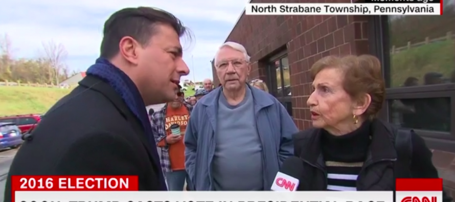 CNN Asks Little Old Lady If She's Excited For First Woman Prez & She Shouts 'NO!' In His Face