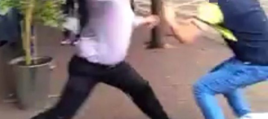 Two drunks assault a bouncer outside of a bar & he wrecks both of them single-handed