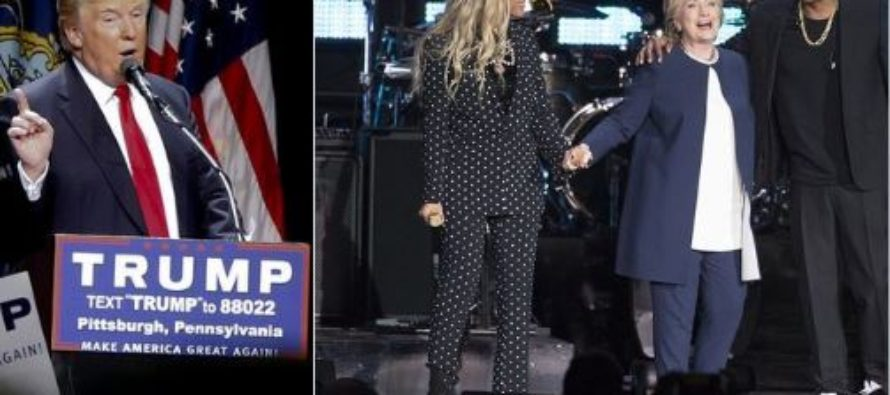 Hillary Pulling All Stops With Beyonce And Jay Z Concert – FAILS When Crowd Leaves After Performances