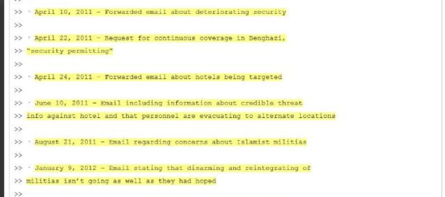 FINALLY! WikiLeaks Releases Email Showing Hillary IGNORING Pleas For Security In BENGHAZI!