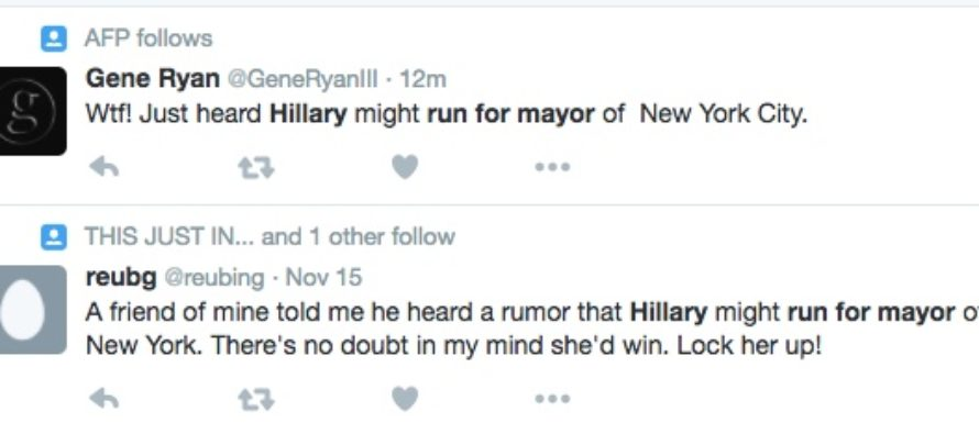 News Of A Possible Hillary Run For Mayor In THIS State Is BREAKING THE INTERNET!