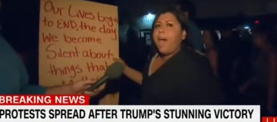 """TOLERANT"" Anti-Trump Protester Demands: ""People Have To Die!"" [VIDEO]"