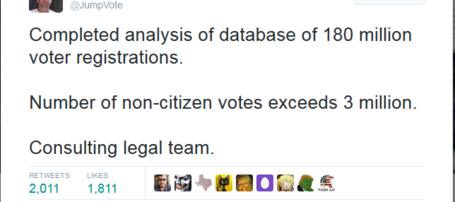 Claim by Gregg Phillips of Votestand: 3 million illegal aliens voted in the last election