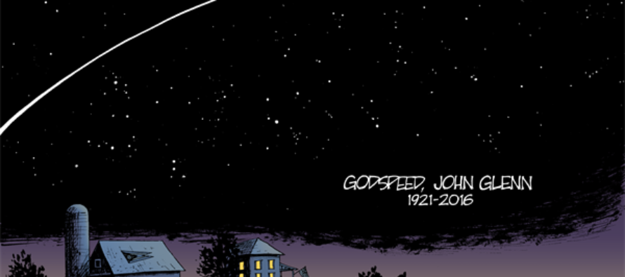 RIP John Glenn (Cartoon)