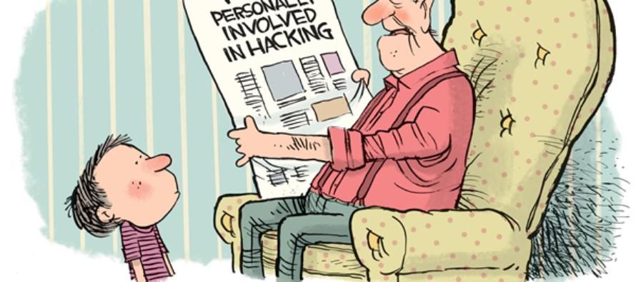Putin Hacking (Cartoon)