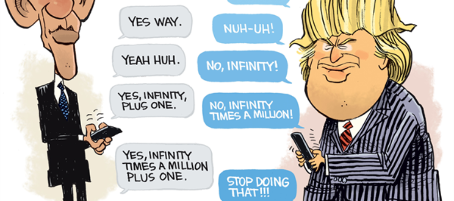 Obama Trump debate (Cartoon)