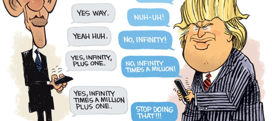 Obama Trump debate (Cartoon)