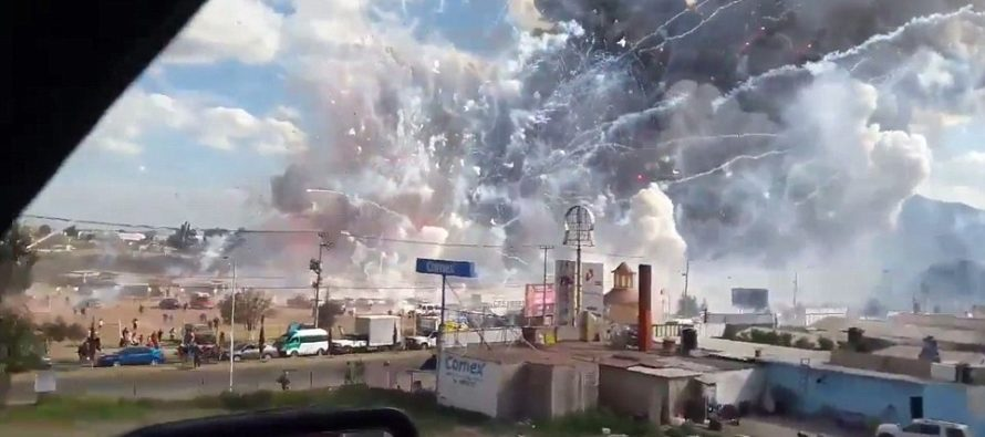 MASSIVE Fireworks Market Explosion Is Caught On Tape, Scattering People And Leaving 29 Dead [VIDEO]