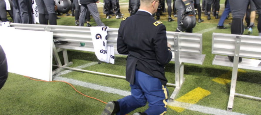 He took a knee during the Army/Navy game, but the reason is nothing like Kaepernick