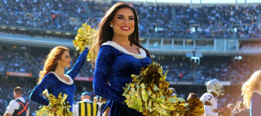 68,000 NFL Fans Are Disgusted When They Realize What Security Guard Watching Cheerleaders Is Doing