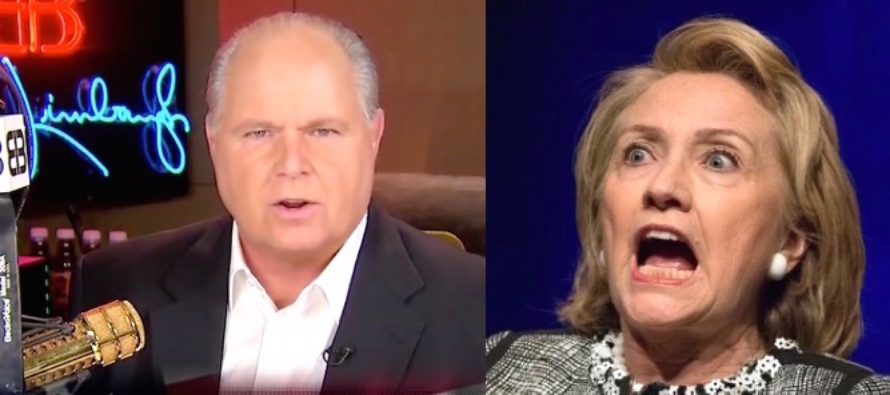 Limbaugh Releases Hillary Video – In Less Than 2 Minutes It BROKE THE INTERNET! [VIDEO]