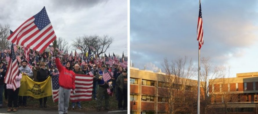 BOOM! Veterans Teach Hampshire College A Lesson – Now The AMERICAN Flag Is Back!