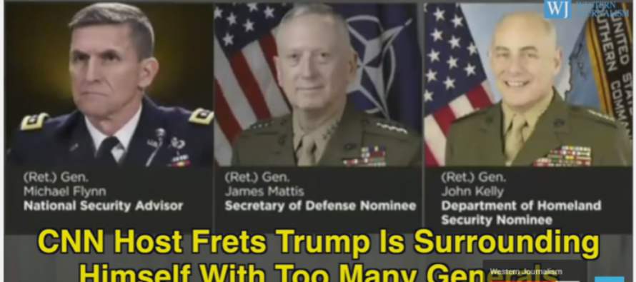 CNN In PANIC MODE: Concerned Trump Is Picking Too Many GENERALS For Cabinet – VIDEO