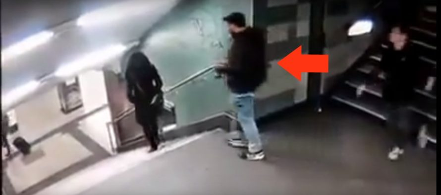 JUST FOR FUN! Muslim Migrants Kick German Girl Down Flight Of Stairs – Caught On CCTV [VIDEO]