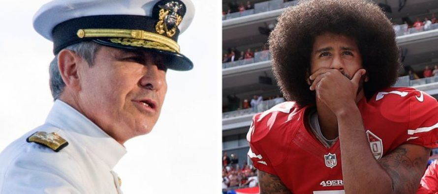 US Navy Admiral crushed Kaepernick; he might not play again! [VIDEO]