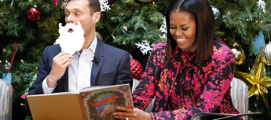 Michelle Obama Reads 'Night Before Christmas' To Children, But She Changed The Story VIDEO