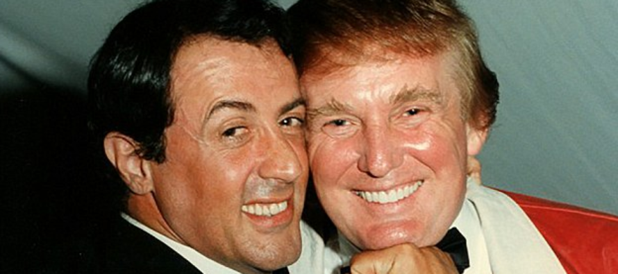 Looks like Trump asked Sylvester Stallone for a huge favor