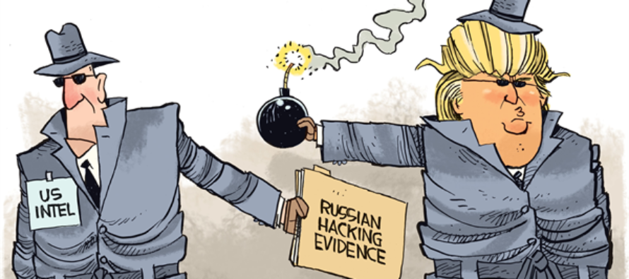 Trump Intel Bomb (Cartoon)