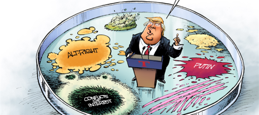 Trump Germs (Cartoon)