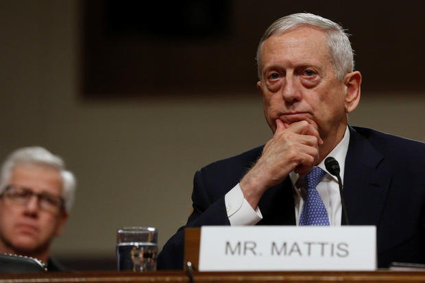 Mattis testifies before a Senate Armed Services Committee hearing on his nomination to serve as defense secretary in Washington