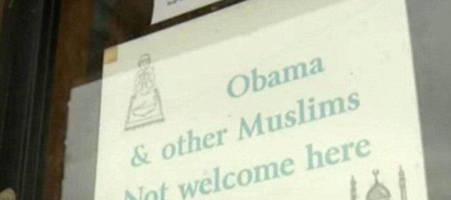 "Convenience store Sign in New Mexico: ""Obama & Other Muslims Not Welcome Here."""