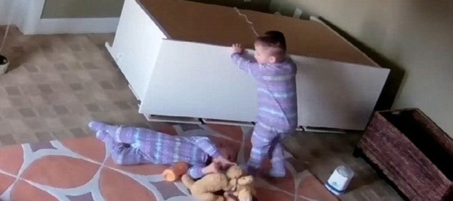 VIDEO: Surprisingly strong 2 year-old saves his twin brother from being crushed by a falling dresser