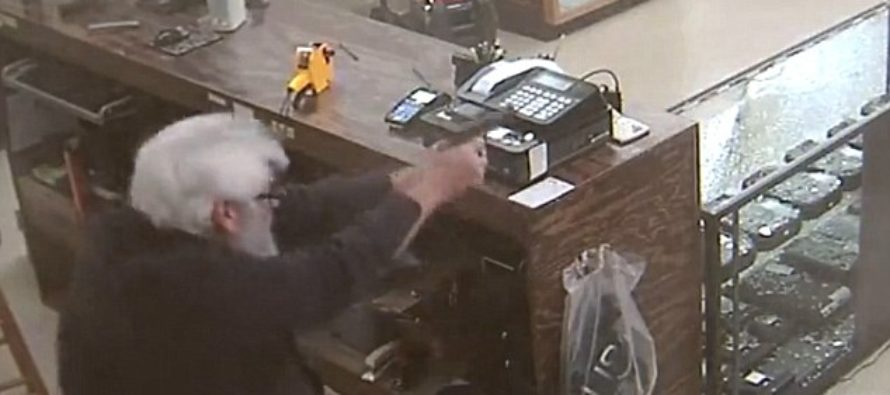 Gun Store Owner Is Robbed On Camera By Two Thugs…Then SHOOTS And DROPS One! [VIDEO]