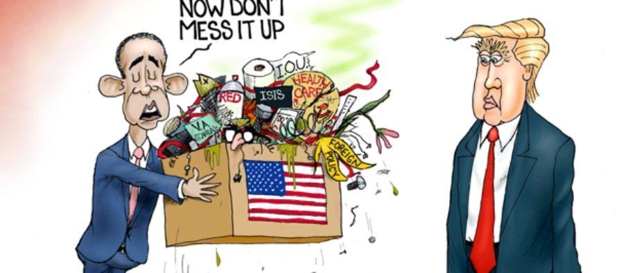 Presidential Trash-sition (Cartoon)