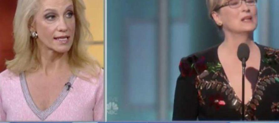 BOOM: Kellyanne Conway Delivers EPIC Response to Meryl Streep's Trump-Bashing Speech [VIDEO]