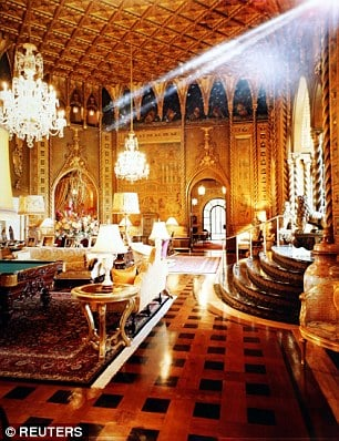 Mar-a-Lago was built in the 1920s but has been refurbished by Trump several times since he took it over in the 1980s