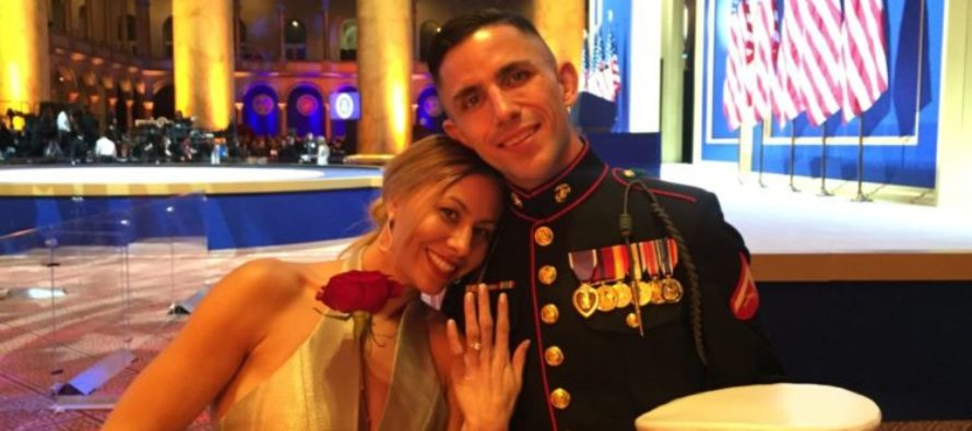 Two-Time Purple Heart Recipient Marine Proposes To Girlfriend At Trump Inauguration Ball