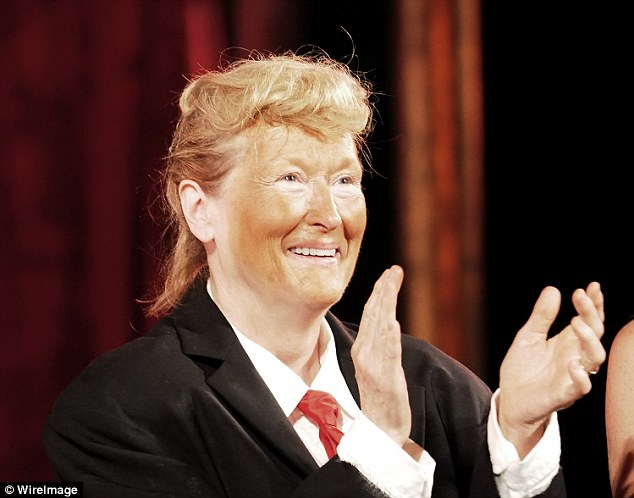 Streep dressed up as Donald Trump (above) at the annual Shakespeare in the Park gala in New York City this past June.