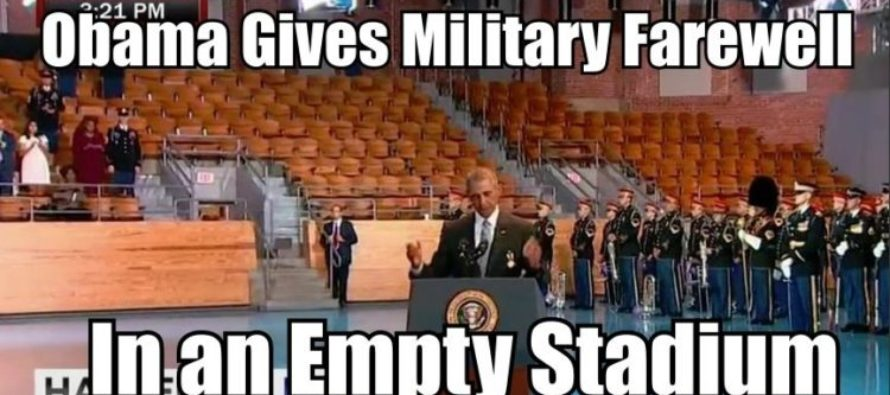 His Final Salute: Military Gives Obama a NASTY Goodbye! [VIDEO]