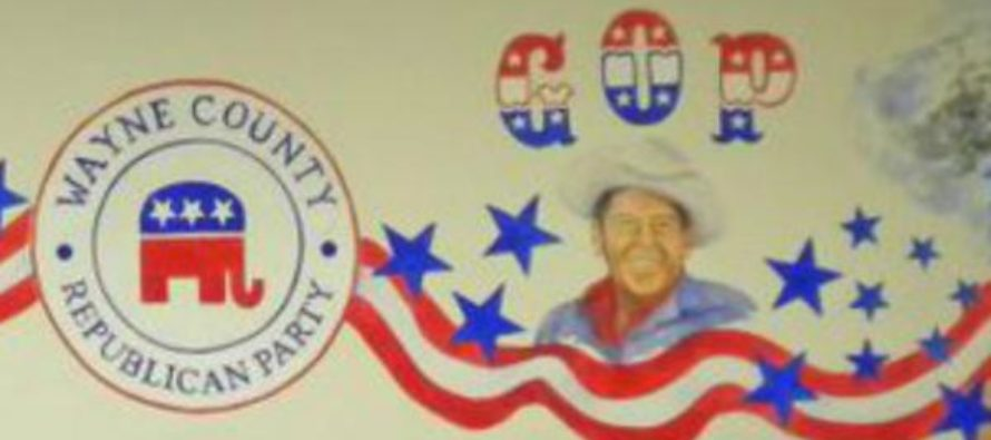 Vandals break into building and see Ronald Reagan mural. What happens next is DISGRACEFUL