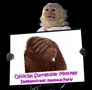 Surrender Monkey Facepalm