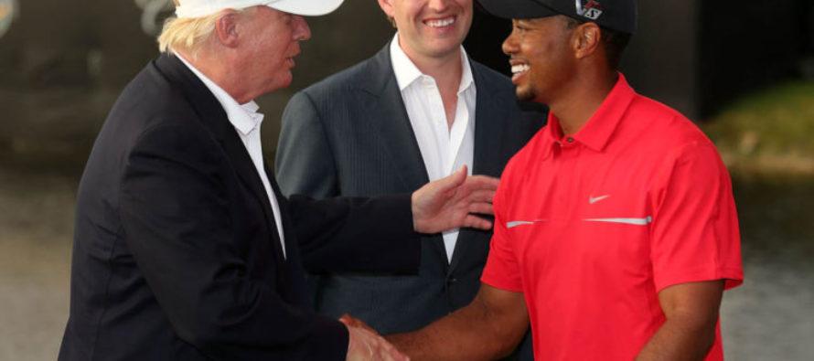 "Tiger Woods pens praise for Trump: ""IMPRESSIVE!"""