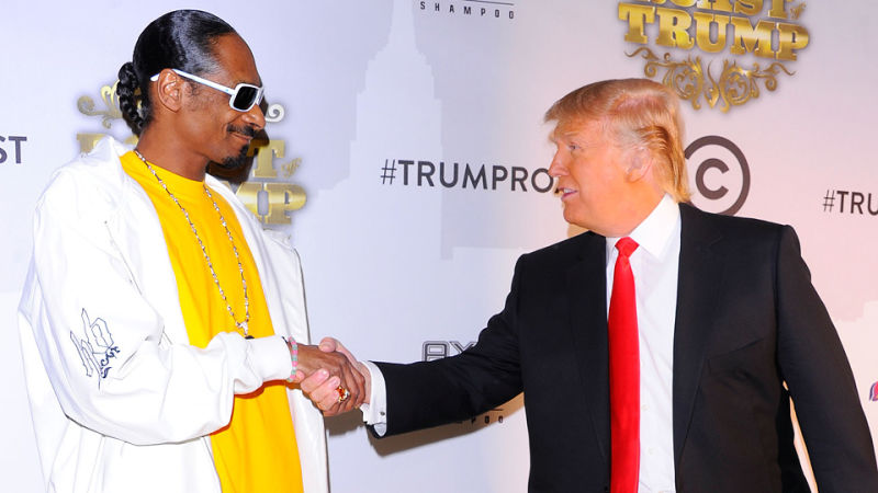 Fun Fact: Snoop Dogg sure has one hell of a handshake.  WEAK!