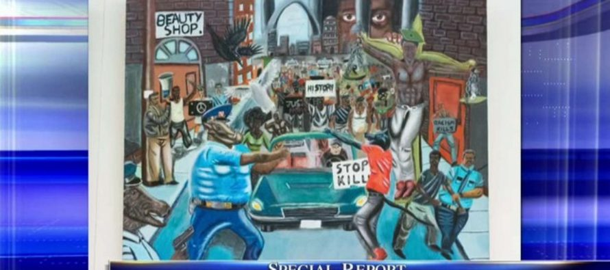 Democrats furious! Controversial anti-cop painting receives official notice