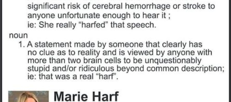 Obamunist State Department Spokesidiot Marie Harf Joins Fox News