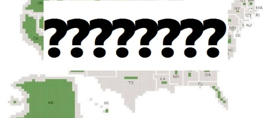 Shocking map shows how much land the Government owns in every state
