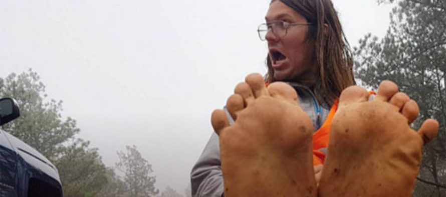 Enviromoonbat Killed by SUV While Hiking Barefoot Across America to Save Planet
