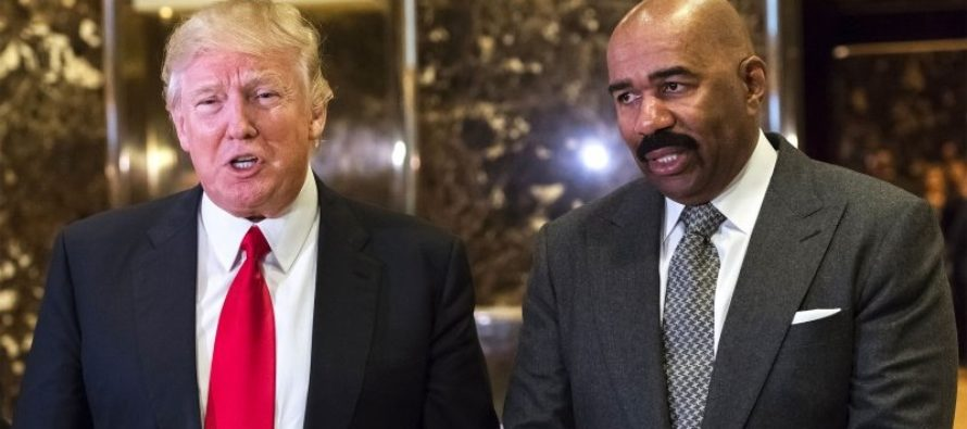 BOOM! Steve Harvey Responds To Critics About His Visit With Trump – SHUTS IT DOWN!
