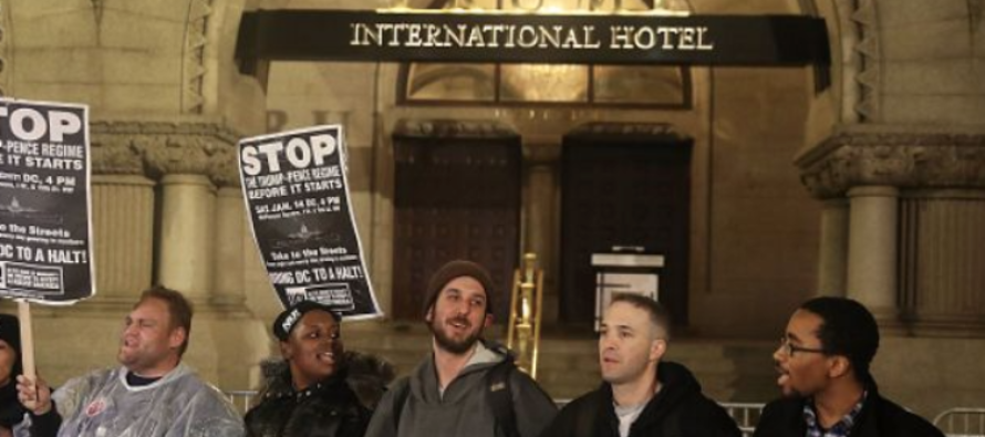 Protester Lights Himself On FIRE At Trump's Hotel Because…The Constitution!?