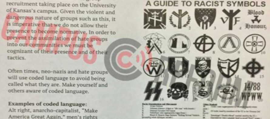 University of Kansas Flyer Equating MAGA With Nazism Apparently Produced by School of Social Welfare