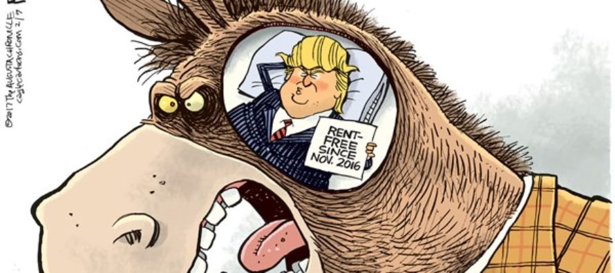 Trump Rent Free (Cartoon)